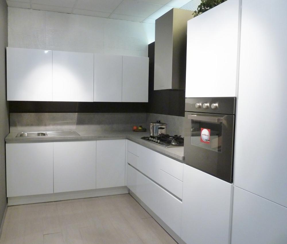 Cucina Arrital AK_03 Bianca Lucida scontata - Cucine a prezzi scontati