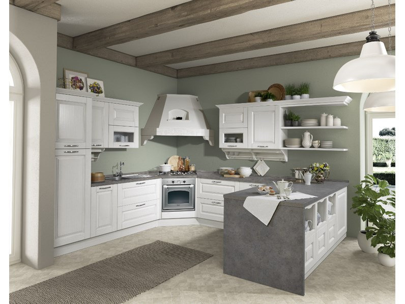 Cucina.Ala Cucine Cucina Carlotta Versione Decape Bianco Scontato Del 35