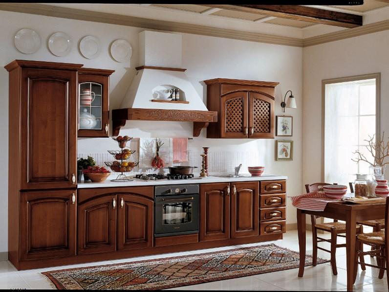 Cucine Componibili Ariston.Ala Cucine Cucina Elena Versione Noce Scuro Scontato Del 30