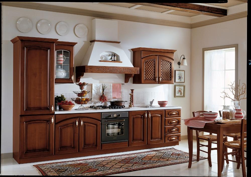 Ala cucine cucina elena versione noce scuro scontato del - Cucina bianca e noce ...