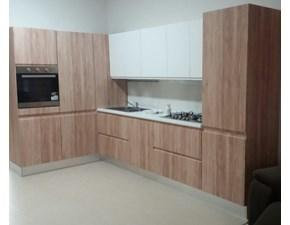 Cucina Ala cucine moderna ad angolo bianca in polimerico opaco Time basic