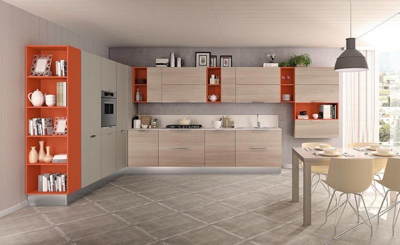 Cucina ala cucine onda di ala cucine moderne laminato materico grigio cucine a prezzi scontati - Cucine ala prezzi ...