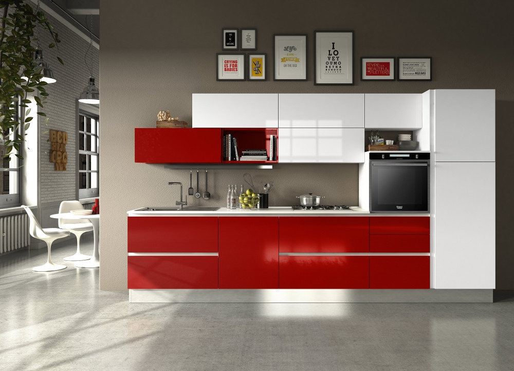 Cucine Moderne Bianche E Rosse. Immagine With Cucine Moderne Bianche ...