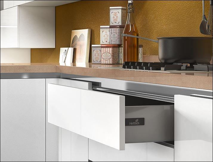 Ala Cucine Moderne. Great Cucina Con Frontali In Legno Castagno ...