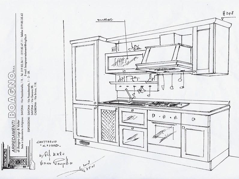 Mobili Grattarola Offerta.Cucina Altri Colori Classica Lineare Canard Grattarola In Offerta Outlet
