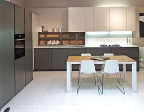 Cucina design ad angolo F45 color pino e madreperla in OFFERTA OUTLET