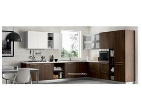 Cucina altri colori moderna ad angolo Pd11 * Artigianale in Offerta Outlet