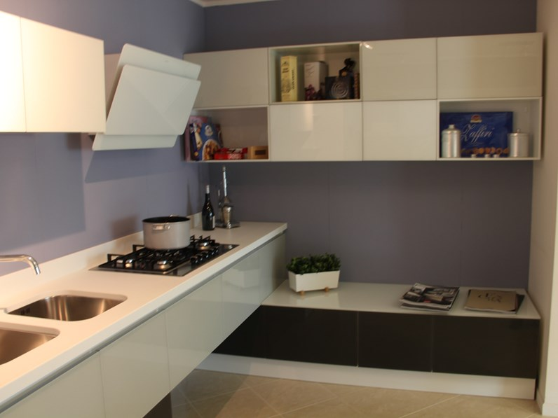 Cucina altri colori moderna ad angolo Tetrix Scavolini