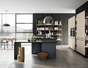 Cucina altri colori moderna ad isola Caprera bianca e nera Imab group in Offerta Outlet