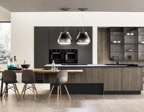 Cucina altri colori moderna ad isola Cucina ad isola realizzata in laminato ad effetto legno Colombini casa