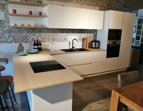 Cucina altri colori moderna con penisola Art.146 cucina record mod.system  Record cucine