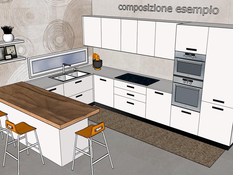 Cucina altri colori moderna con penisola spring dibiesse in offerta outlet - Colori cucina moderna ...