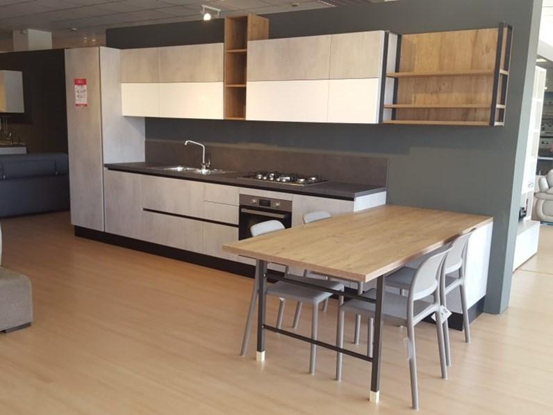 Cucina altri colori moderna con penisola time beton - Colori cucina moderna ...