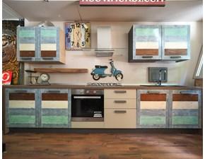 Cucina altri colori moderna lineare Cucina ecovintage  terra/ mare  lineare legno in offerta  Nuovi mondi cucine in Offerta Outlet