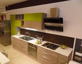 Cucina altri colori moderna lineare Papaia / timo  Arrex in Offerta Outlet