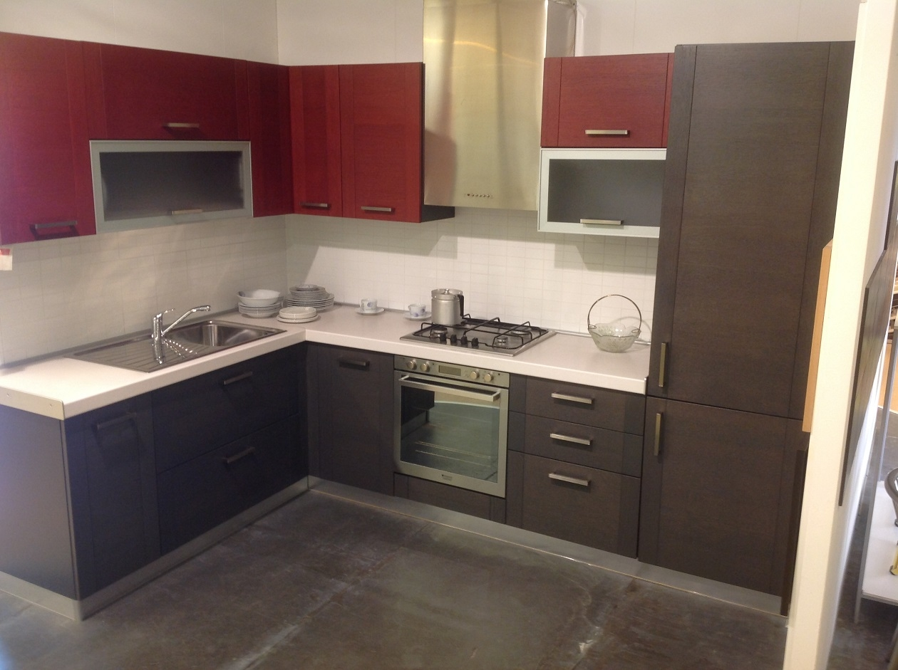 Piastrelle cucina rosse piastrella da interno da pavimento in gres a tinta unita with - Piastrelle cucina rosse ...