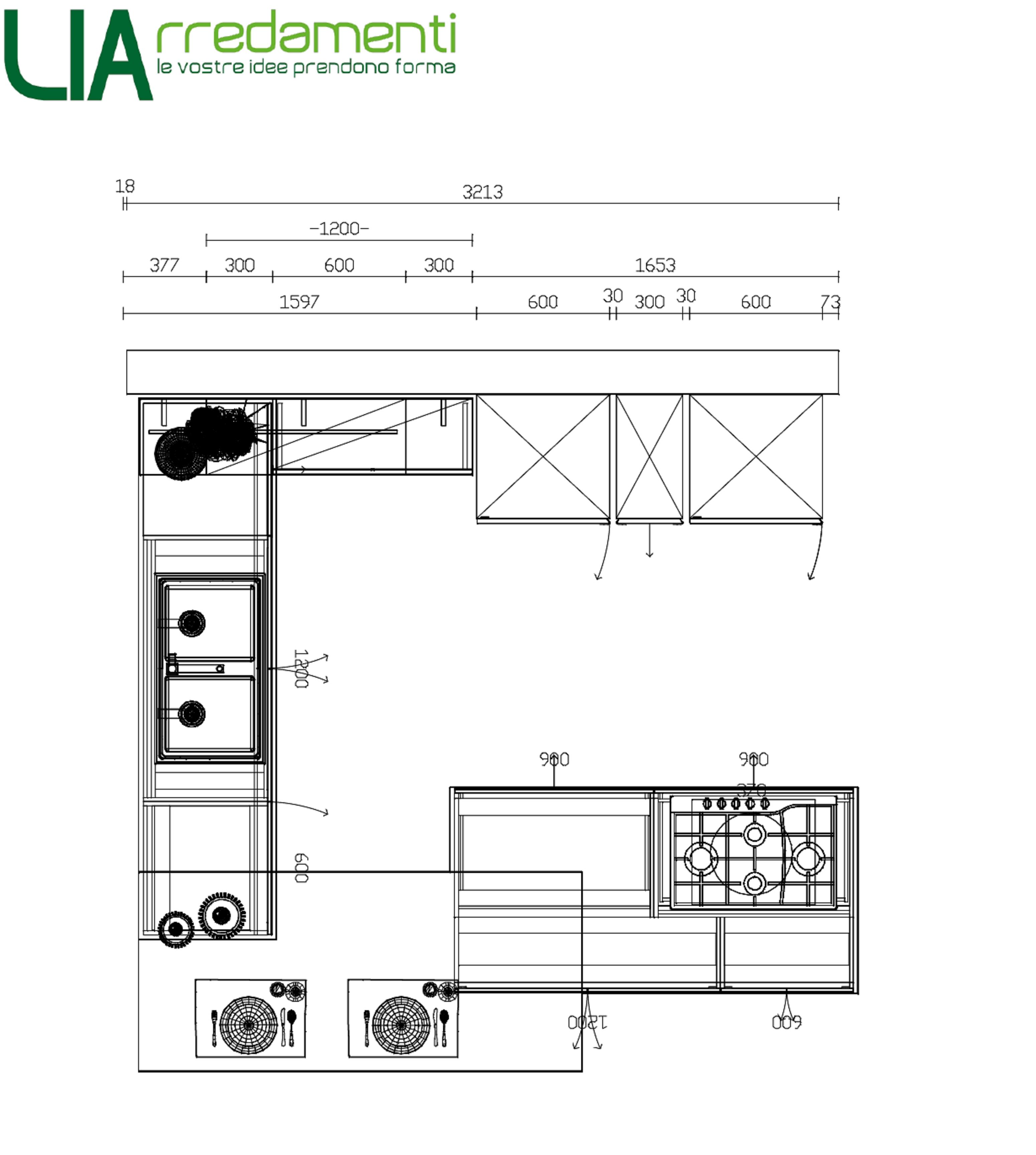 Cucina angolare ARREDO3 modello KALI laminato PET scontata del 33 ...