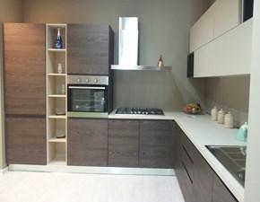 cucina angolare con elementi living