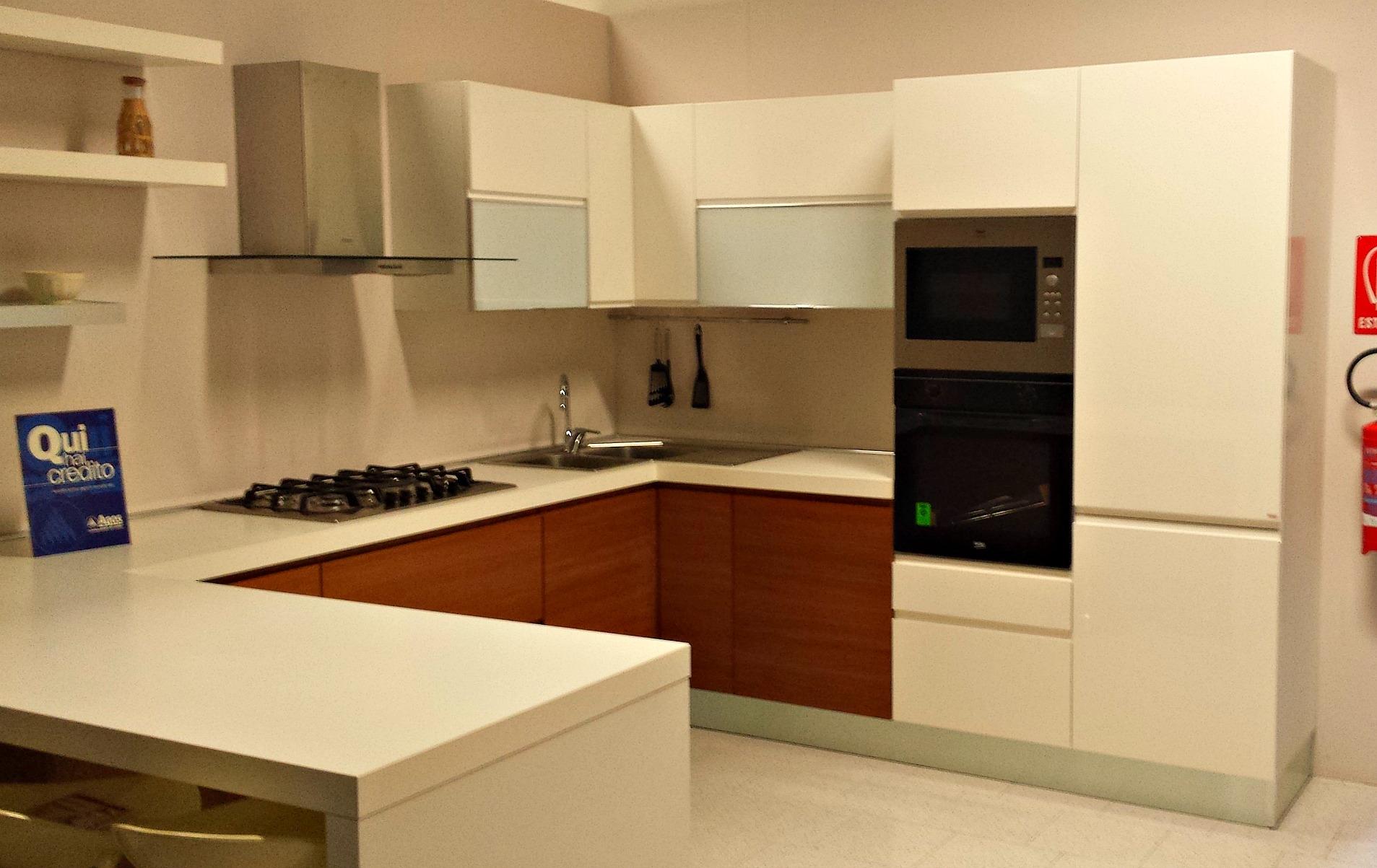 Cucina angolare con penisola modello sintesy cucine a prezzi scontati - Pensile angolare cucina ...