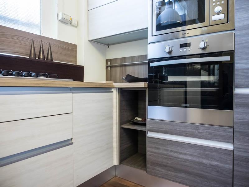 Cucina angolare glam cucine a prezzi scontati - Forno con microonde integrato ...