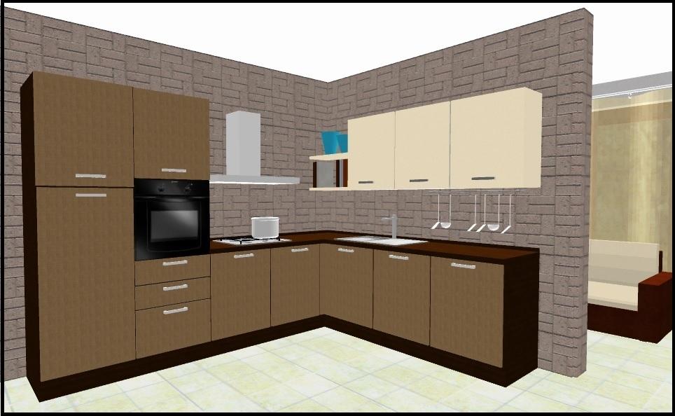 Cucina angolare in promozione 17386 cucine a prezzi scontati - Progetto cucina angolare ...