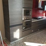 cucina angolare modello linea industrial grigio offerta outlet convenienza