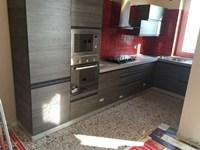 cucina angolare modello linea industrial grigio offerta outlet ...