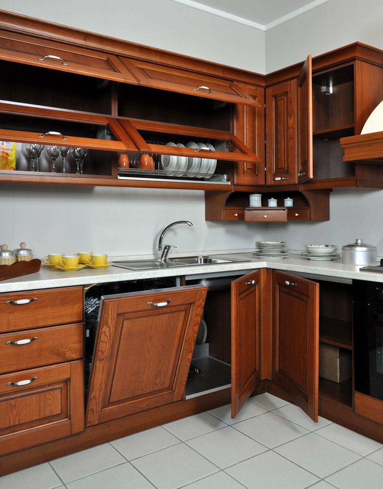 Cucine Con Elettrodomestici Scontata A Prezzo Offerta Cucine A #7C3E20 1225 1562 Cucine Classiche Con Frigo Esterno