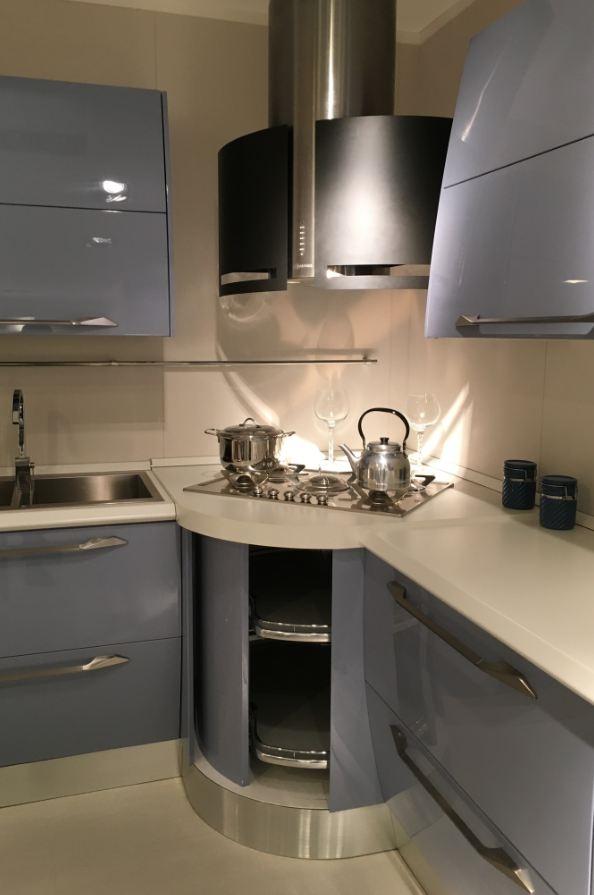 Cucina anta curva scavolini modello flux scontata del 54 - Maniglie cucina scavolini ...