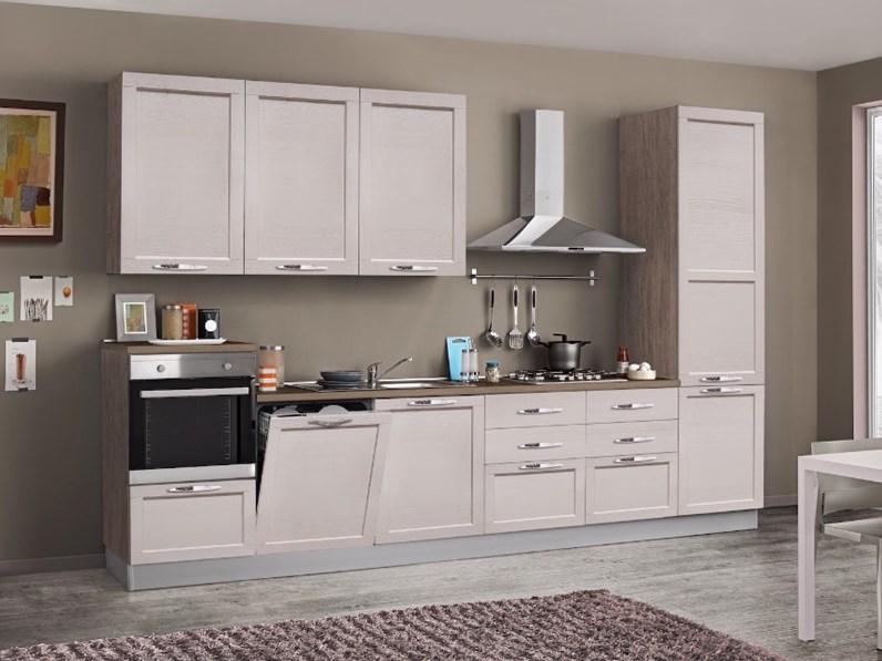 Cucina anta telaio legno shabby chic colore corda in - Cucine con frigo esterno ...