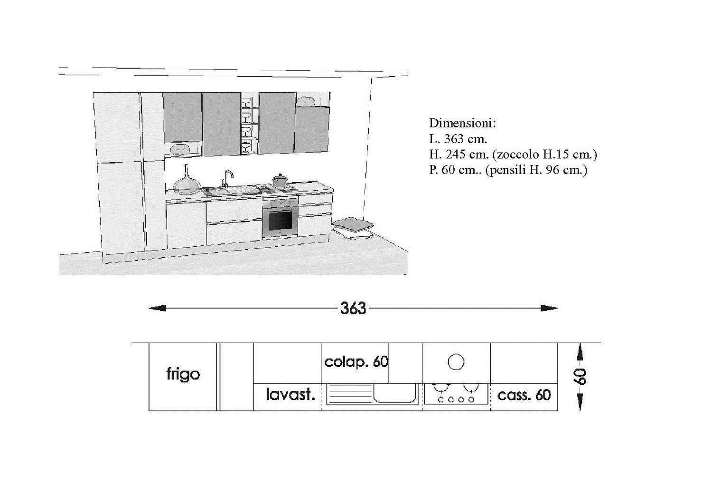 Cucina antares in offerta cucine a prezzi scontati - Dimensioni cucina standard ...