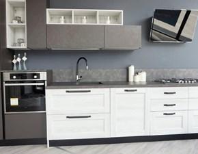 Cucina antracite design lineare Fiorella Arrex in Offerta Outlet