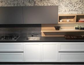 Cucina antracite design lineare Frame Arredo3