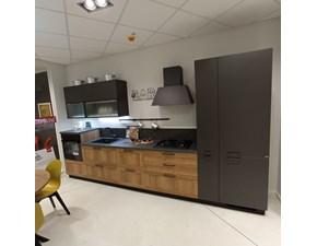 Cucina antracite industriale lineare Sax Scavolini in Offerta Outlet