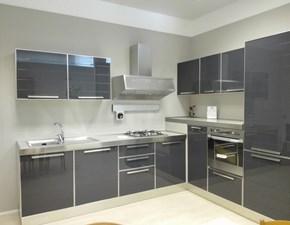 Cucina antracite moderna ad angolo Glass di Masec in vetro