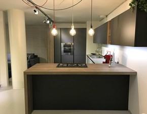 Cucina antracite moderna con penisola Plana kalì Arredo3