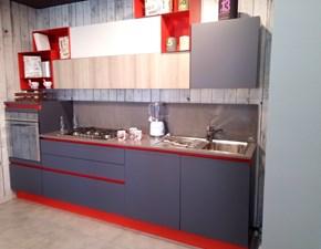 Cucina antracite moderna lineare Alevè Stosa cucine in Offerta Outlet