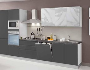 Cucina antracite moderna lineare New kelly Net cucine