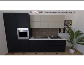 Cucina antracite moderna lineare Sp22 Astra cucine scontata