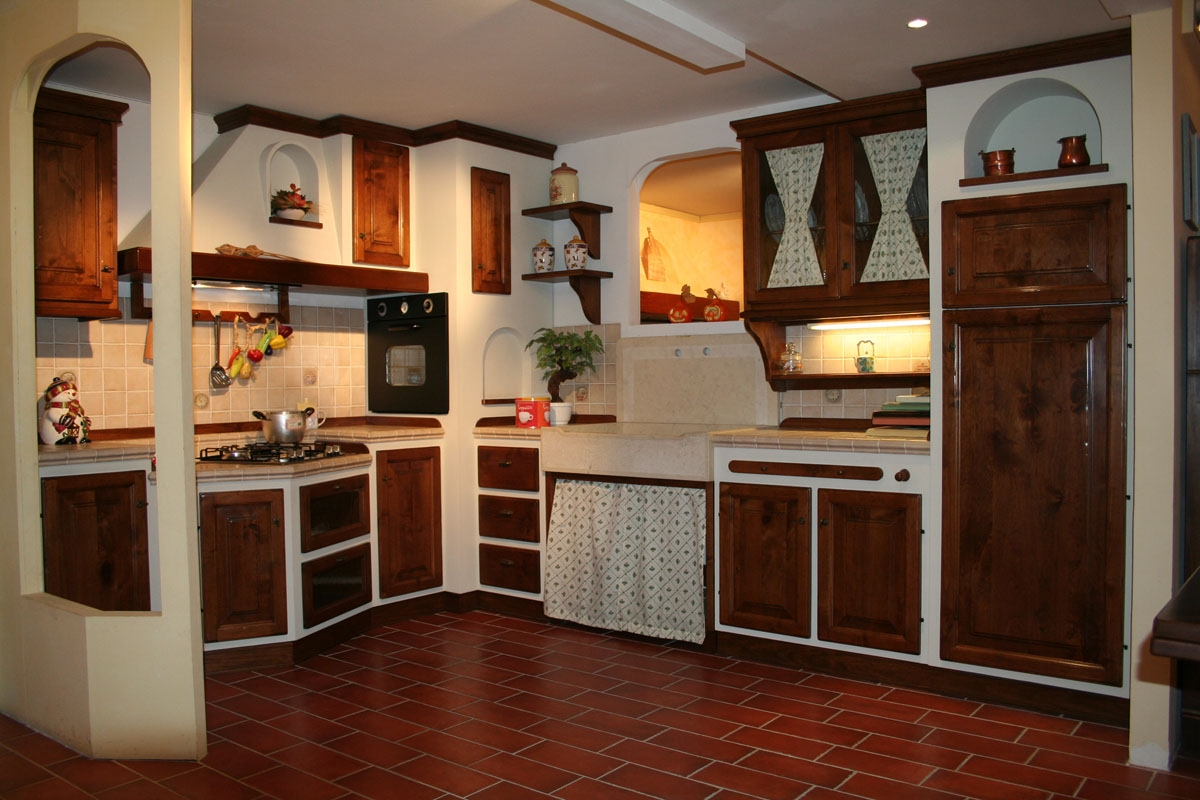 Cucina Apm In Legno Di Noce E Scocca In Listellare Cucine A Prezzi  #C67A05 1200 800 Carrello Cucina Legno Noce