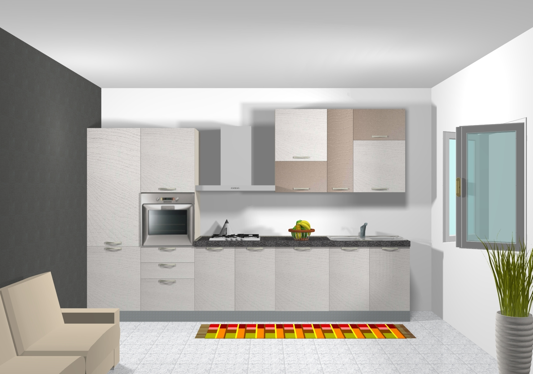 Ar due cucina cedro scontato del 30 cucine a prezzi for Cucina 4 metri lineari prezzi