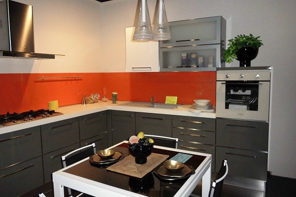 Cucina ar due smeraldo moderna laccato lucido grigio   cucine a ...