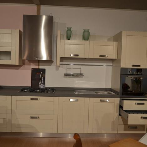 Cucina lineare con piano in agglomerato okite h 6 - Ar tre cucine prezzi ...