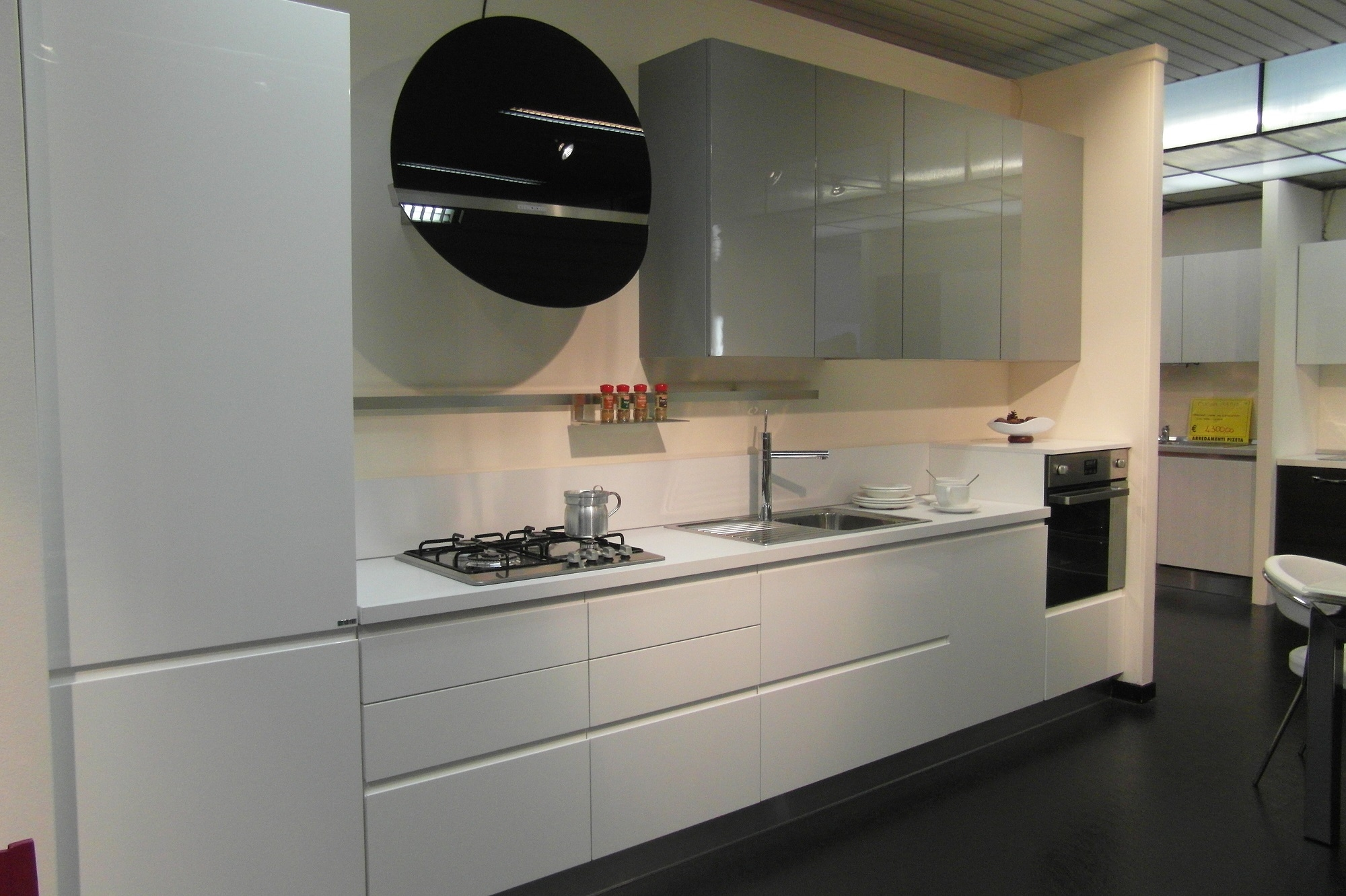 Awesome cucine bianche lucide gallery home ideas - Cucine nere lucide ...