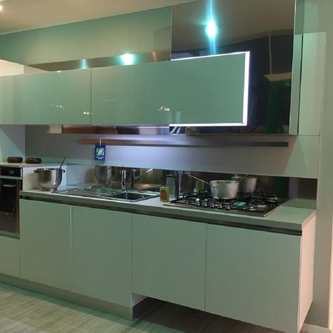 Cucina ar tre laccato frassinato bianco lineare cucine a prezzi scontati - Cucina laccato bianco ...
