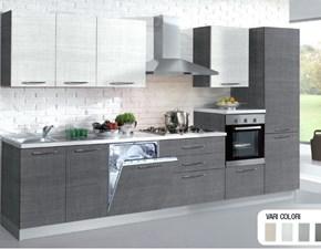 Cucina Ar-tre moderna lineare grigio in laminato materico Tao