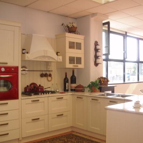 Cucina ar tre signoressa classica legno bianca cucine a prezzi scontati - Cucina bianca legno ...
