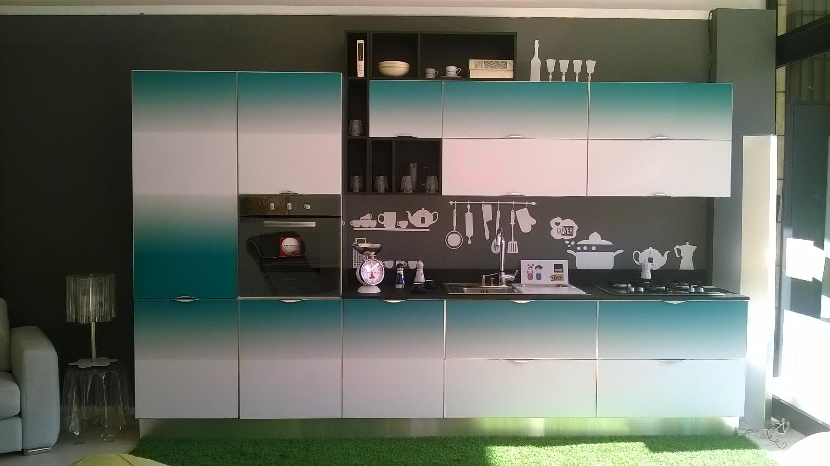 Cucina Aran Del Metri Lineare Con Elettrodomestici Pictures To Pin On  #436E6B 1632 916 Veneta Cucine O Aran