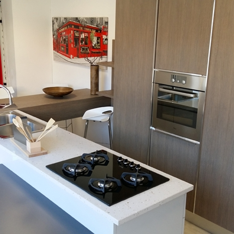 Aran Cucine Cucina Bella Moderno Laminato Materico Neutra - Cucine ...
