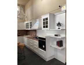 Cucina Aran cucine classica ad angolo bianca in legno Ylenia bianca